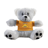 Plush Big Paw 8 1/2 inch White Bear w/Gold Shirt-NC A&T Aggies