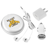 3 in 1 White Audio Travel Kit-NC A&T Aggies