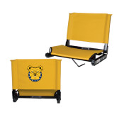 Stadium Chair Gold-Bulldog Head