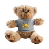 Plush Big Paw 8 1/2 inch Brown Bear w/Grey Shirt-NC A&T Aggies