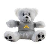 Plush Big Paw 8 1/2 inch White Bear w/Grey Shirt-NC A&T Aggies