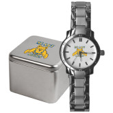 Mens Stainless Steel Fashion Watch-NC A&T Aggies