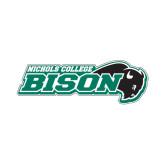 Medium Decal-Nichols College Bison w/Bison, 8 in W