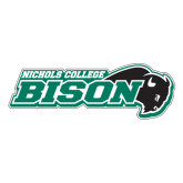 Extra Large Decal-Nichols College Bison w/Bison, 18 in W
