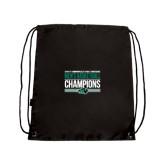 Black Drawstring Backpack-2017 Mens Basketball Champions Stacked