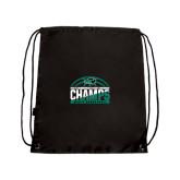 Black Drawstring Backpack-2017 Mens Basketball Champions Basketball