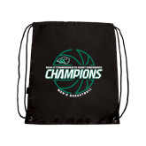 Black Drawstring Backpack-2017 Mens Basketball Champions Full Basketball