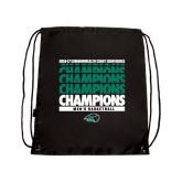 Black Drawstring Backpack-2017 Mens Basketball Champions Repeating
