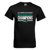 Black T Shirt-2017 Mens Basketball Champions Stacked