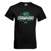 Black T Shirt-2016 Commonwealth Coast Conference Champions - Womens Tennis Spiral