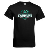 Black T Shirt-2017 Commonwealth Coast Conference Champions - Mens Tennis Spiral