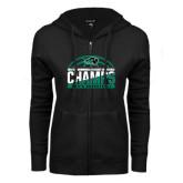 ENZA Ladies Black Fleece Full Zip Hoodie-2017 Mens Basketball Champions Basketball