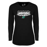 Ladies Syntrel Performance Black Longsleeve Shirt-Mens Ice Hockey Champions
