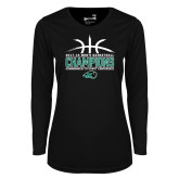Ladies Syntrel Performance Black Longsleeve Shirt-CCC Mens Basketball Champions