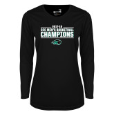 Ladies Syntrel Performance Black Longsleeve Shirt-2017-18 CCC Mens Basketball Champions