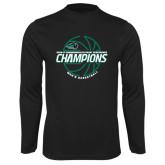 Syntrel Performance Black Longsleeve Shirt-2017 Mens Basketball Champions Full Basketball