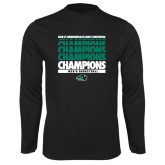 Syntrel Performance Black Longsleeve Shirt-2017 Mens Basketball Champions Repeating