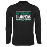 Performance Black Longsleeve Shirt-2017 Mens Basketball Champions Stacked