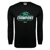 Black Long Sleeve T Shirt-2016 Commonwealth Coast Conference Champions - Womens Tennis Spiral