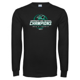 Black Long Sleeve T Shirt-2017 Commonwealth Coast Conference Champions - Mens Tennis Spiral
