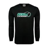 Black Long Sleeve TShirt-Lacrosse