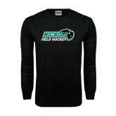 Black Long Sleeve TShirt-Field Hockey