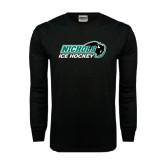 Black Long Sleeve TShirt-Ice Hockey