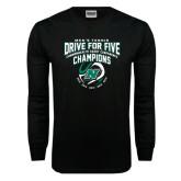 Black Long Sleeve TShirt-Drive For Five CCC Champions Mens Tennis