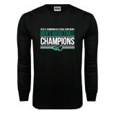 Black Long Sleeve T Shirt-2017 Mens Basketball Champions Stacked