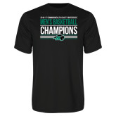 Performance Black Tee-2017 Mens Basketball Champions Stacked