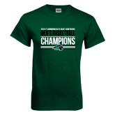 Dark Green T Shirt-2017 Mens Basketball Champions Stacked