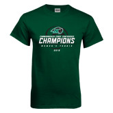 Dark Green T Shirt-2016 Commonwealth Coast Conference Champions - Womens Tennis Spiral