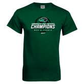 Dark Green T Shirt-2017 Commonwealth Coast Conference Champions - Mens Tennis Spiral
