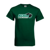 Dark Green T Shirt-Lacrosse