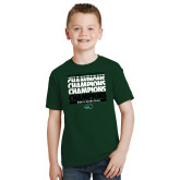 Youth Dark Green T Shirt-2017 Mens Basketball Champions Repeating