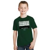 Youth Dark Green T Shirt-2017 Mens Basketball Champions Repeating