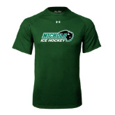 Under Armour Dark Green Tech Tee-Ice Hockey