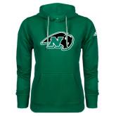 Adidas Climawarm Dark Green Team Issue Hoodie-N w/Bison