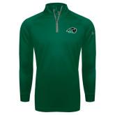 Under Armour Dark Green Tech 1/4 Zip Performance Shirt-N w/Bison