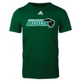 Adidas Dark Green Logo T Shirt-Nichols College Bison w/Bison