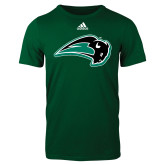 Adidas Dark Green Logo T Shirt-Bison