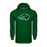Under Armour Dark Green Performance Sweats Team Hoodie-N w/Bison