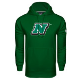 Under Armour Dark Green Performance Sweats Team Hoodie-N