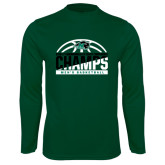 Performance Dark Green Longsleeve Shirt-2017 Mens Basketball Champions Basketball