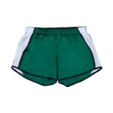 Ladies Dark Green/White Team Short-Bison