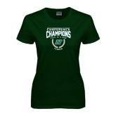Ladies Dark Green T Shirt-Bison