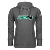 Adidas Climawarm Charcoal Team Issue Hoodie-Nichols College Bison w/Bison