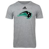 Adidas Sport Grey Logo T Shirt-Bison