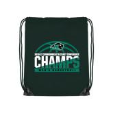 Dark Green Drawstring Backpack-2017 Mens Basketball Champions Basketball
