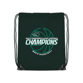 Dark Green Drawstring Backpack-2017 Mens Basketball Champions Full Basketball